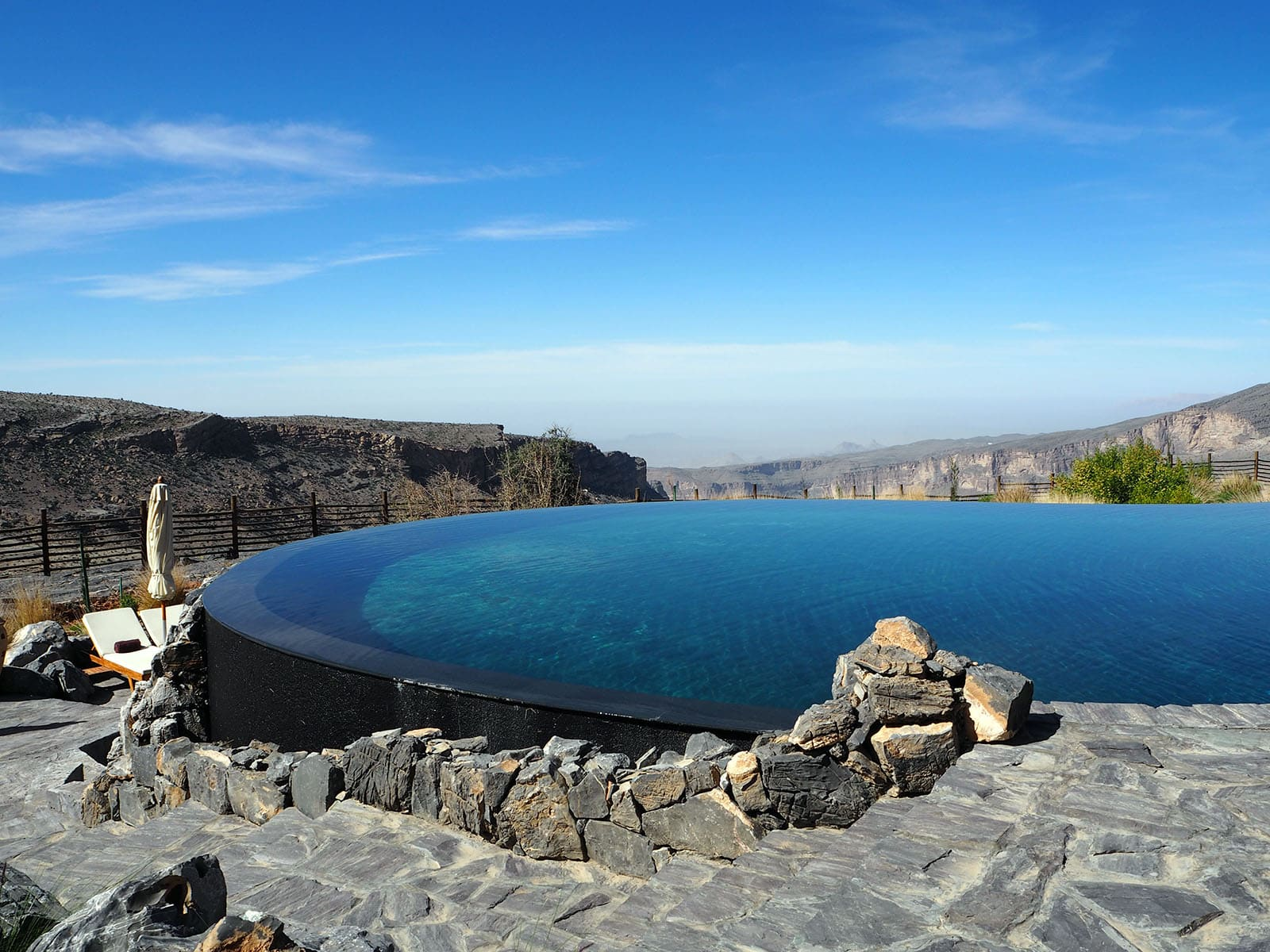 Beautiful Infinity pool at the Alila, Jebal Akhdar Mountains