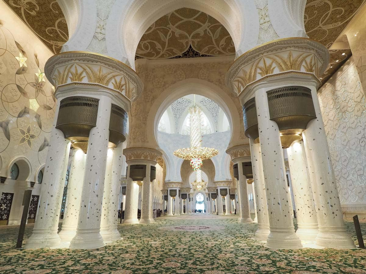 Inside at the Sheikh Zayed Grand Mosque The Travel Escape