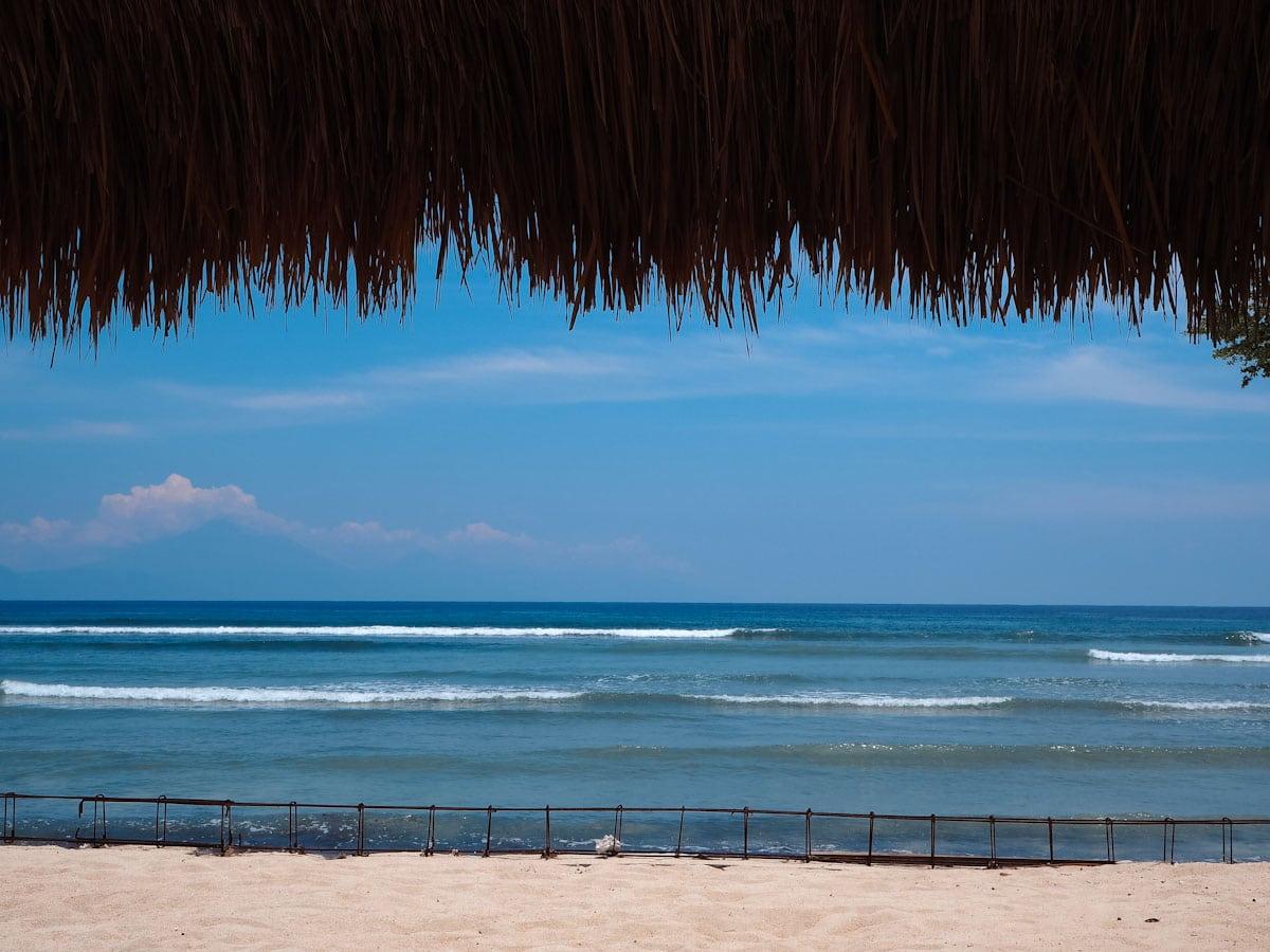 The sea view at at Villa Gili Bali Beach - Gili Trawangan Bali - The Travel Escape