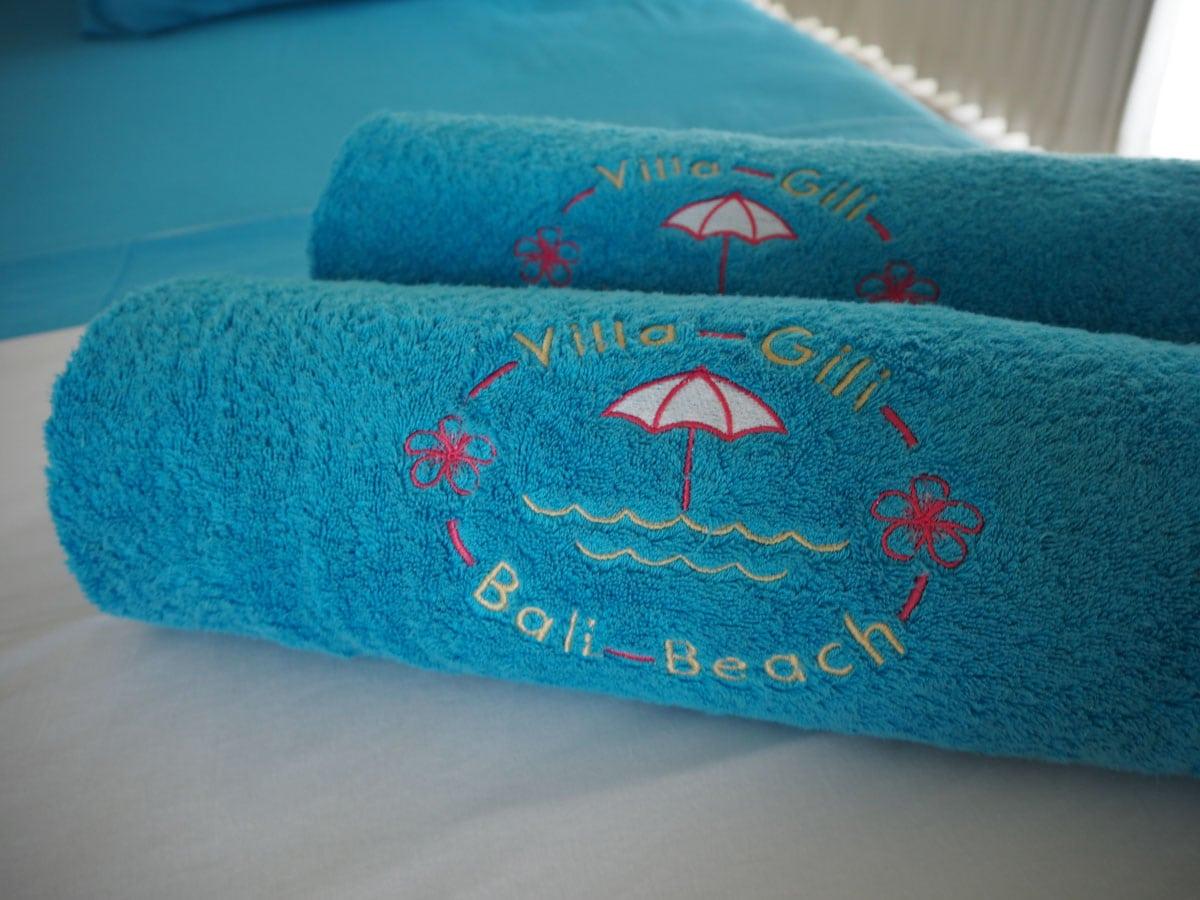 Towels at Villa Gili Bali Beach - Gili Trawangan Bali
