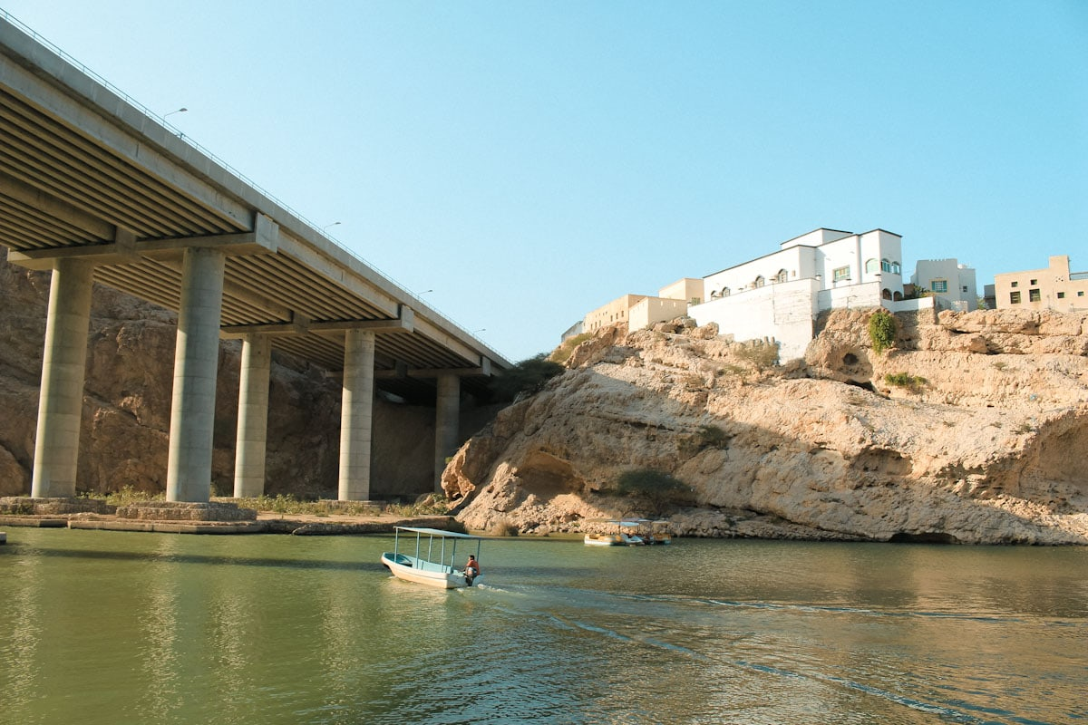 Highway over the entrance of Wadi Shab Oman The Travel Escape