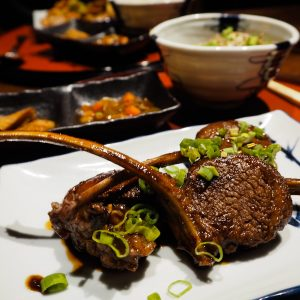 Teriyaki Lamb Chops at the Japanese Restaurant