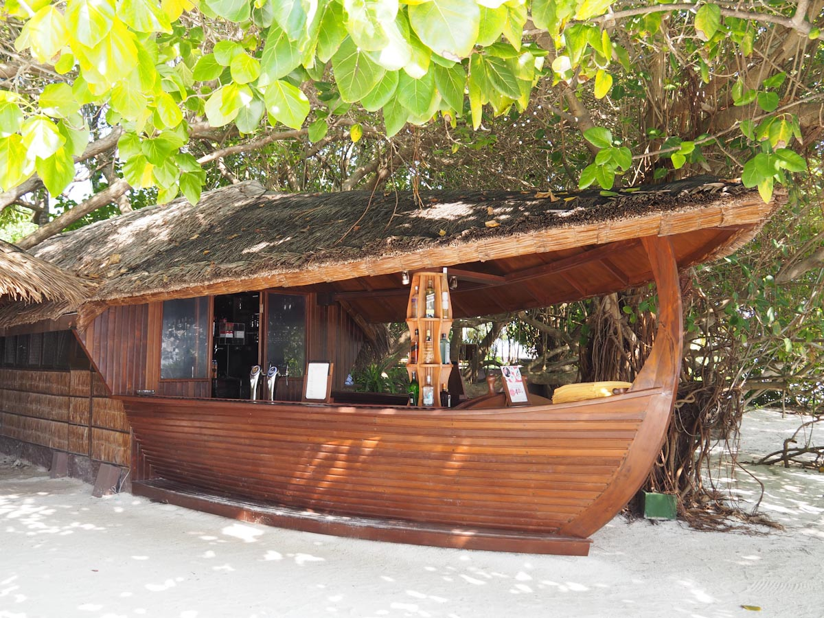 Boat Beach Bar at the Adaaran Vadoo Prestige