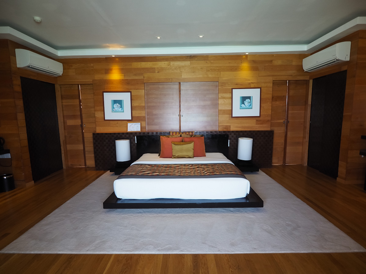 Japanese style bed in the Adaaran Prestige Vadoo Bedroom