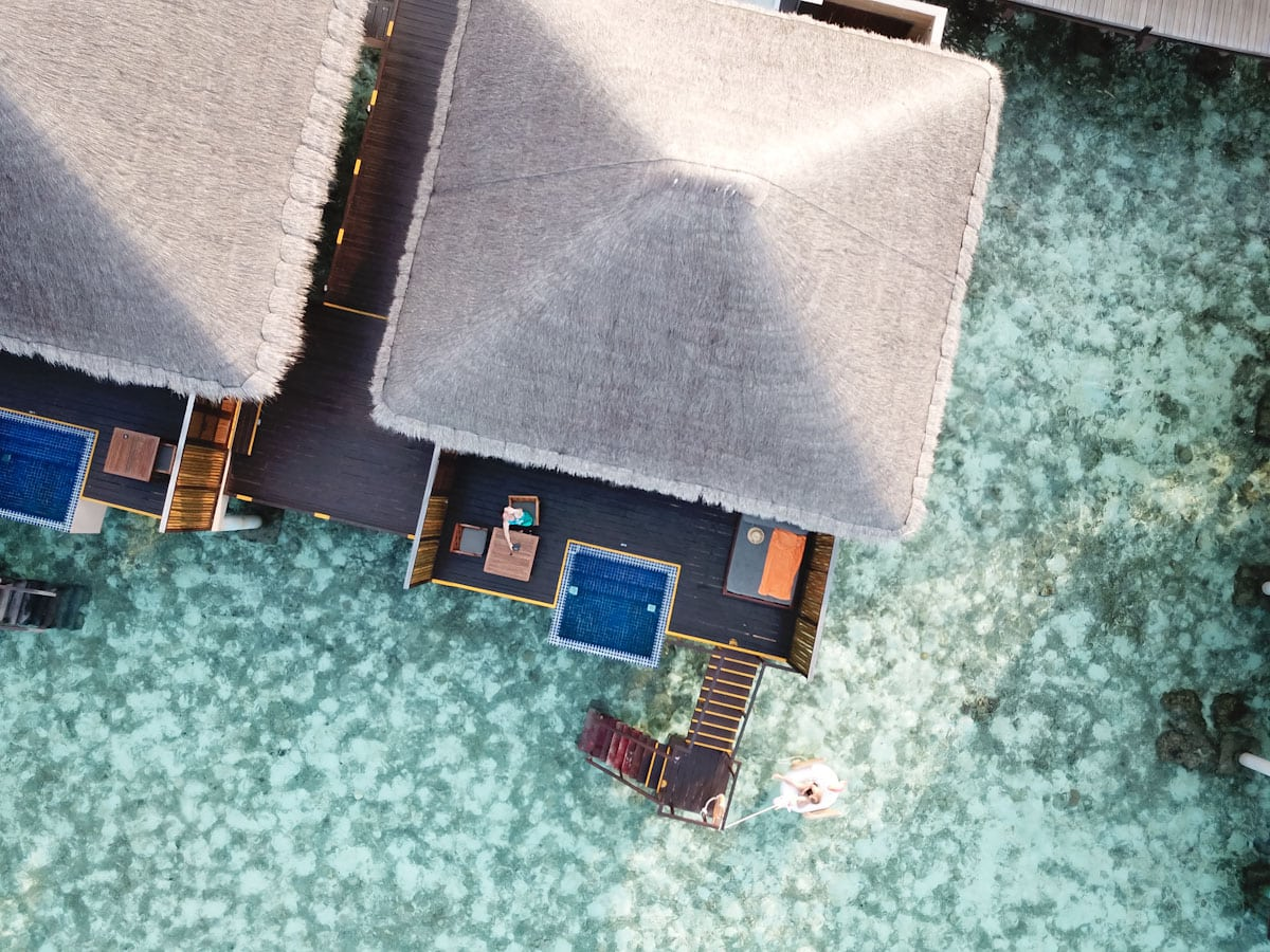 Aerial shot of our private pool villa