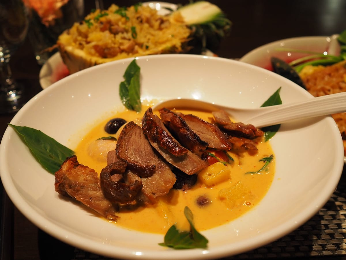 Duck curry at Element Restaurant, Amara Bangkok