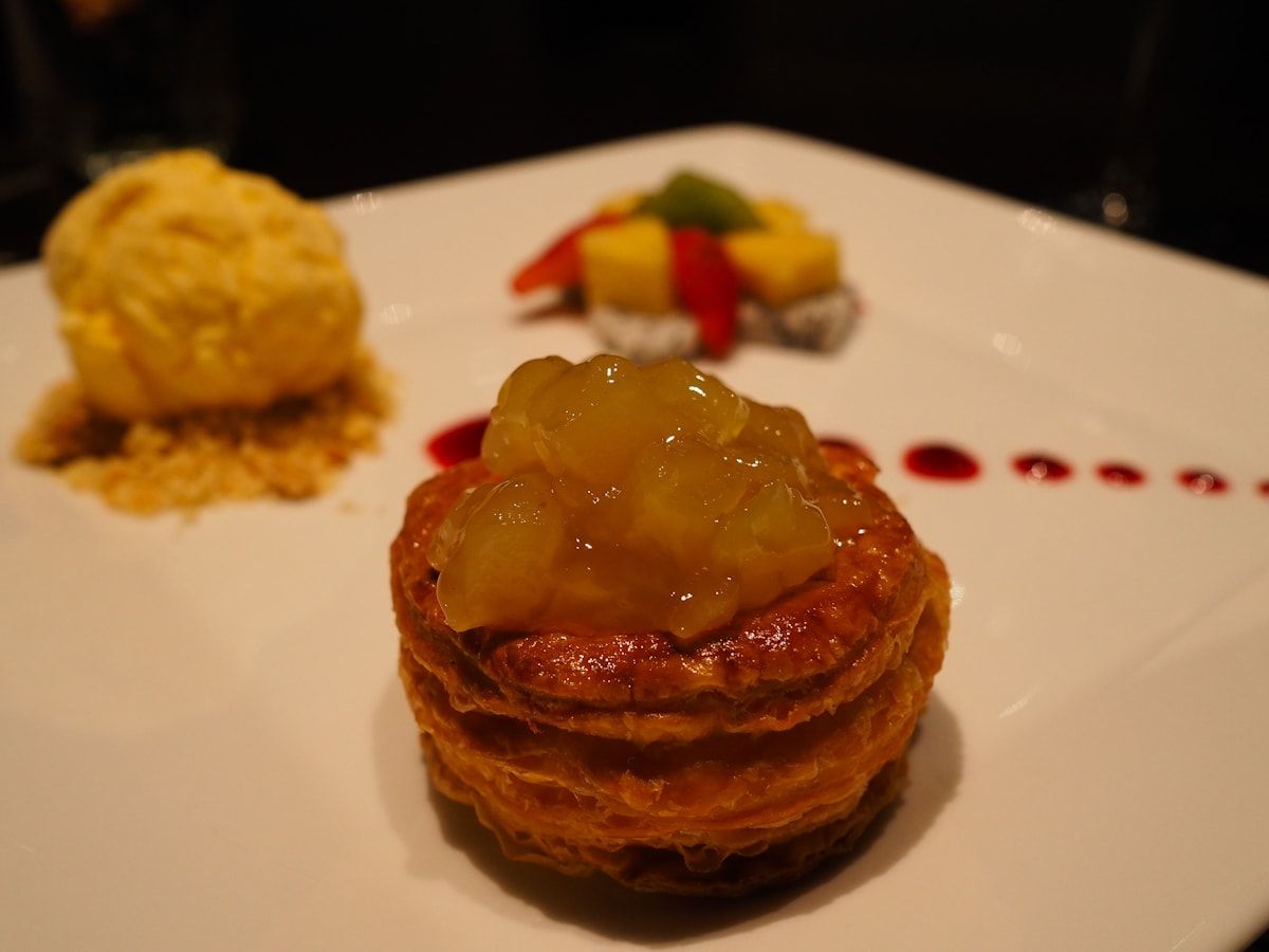 Apple Tart Dessert at Element Restaurant, Amara Bangkok